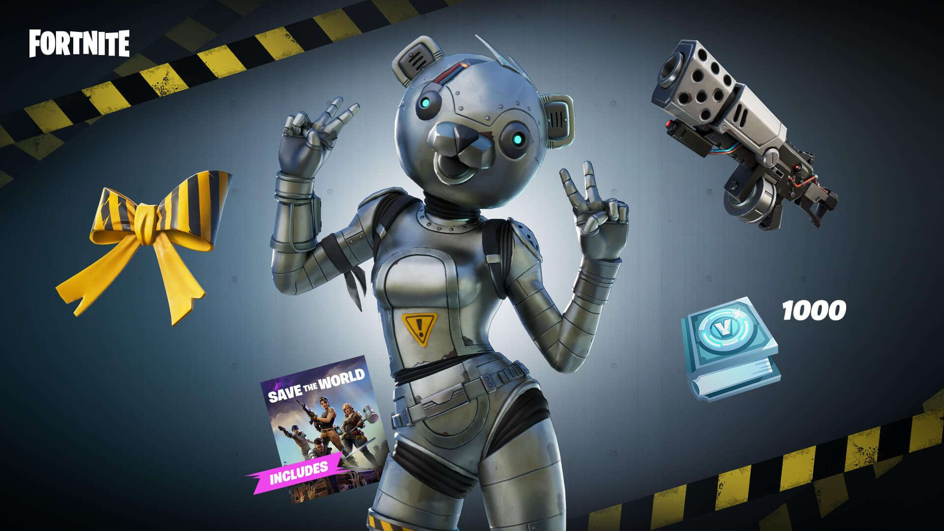 The Metal Team Leader Pack includes cosmetics like the Warning Bow Back Bling and access to new Metal Team Leader Challenges in Fortnite.