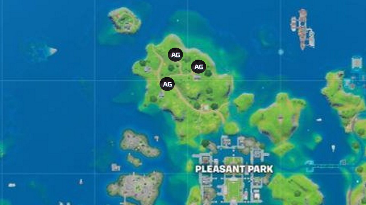 Homely Hills gnome locations in Fortnite Season 3