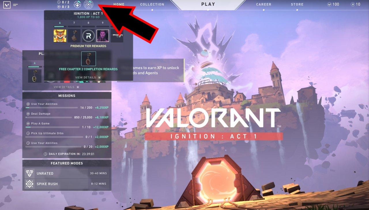 How to unlock the valorant battle pass