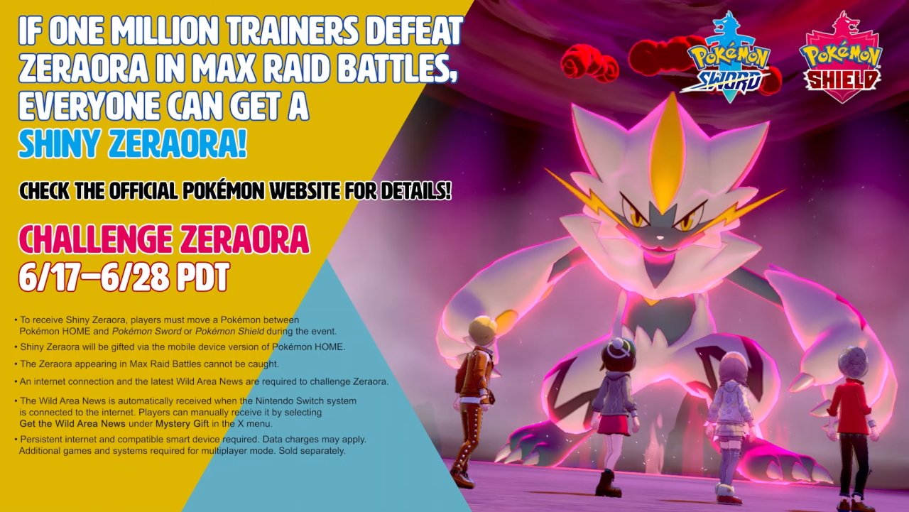 How to get a shiny Zeraora in Pokemon Sword and Shield