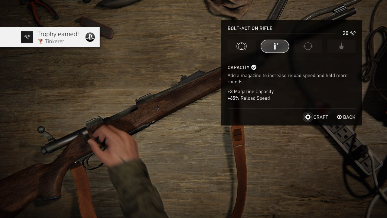 How to upgrade weapons in The Last of Us Part 2