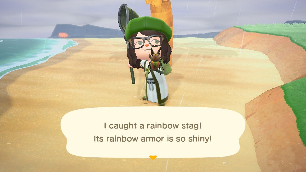 The Rainbow Stag sells for 6,000 Bells each, making it an extremely valuable catch in Animal Crossing: New Horizons!