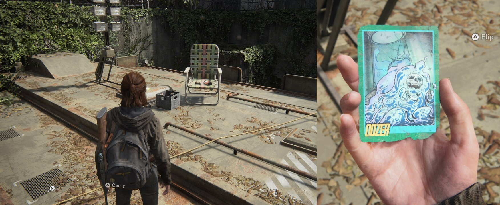 The last of us 2 trading card 8 oozer location