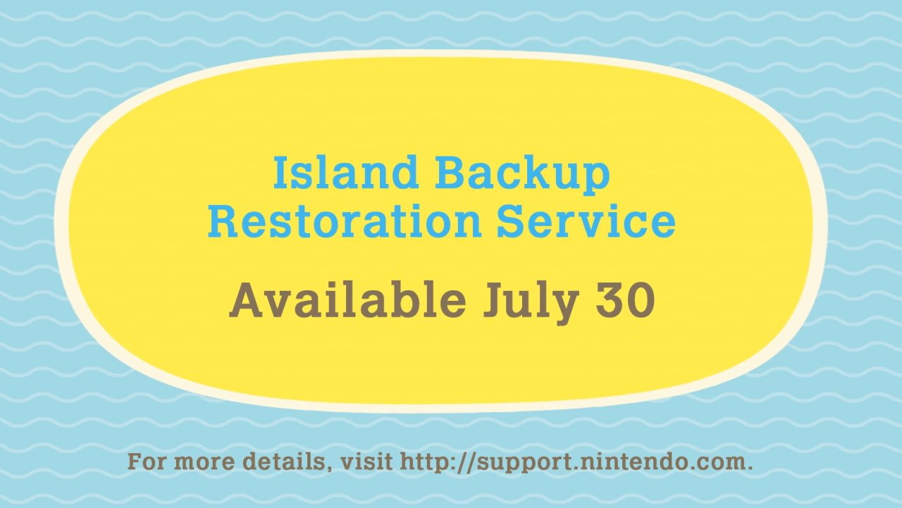Animal Crossing: New Horizons Island Backup Restoration Service