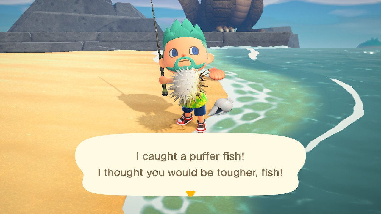 Animal crossing new horizons puffer fish