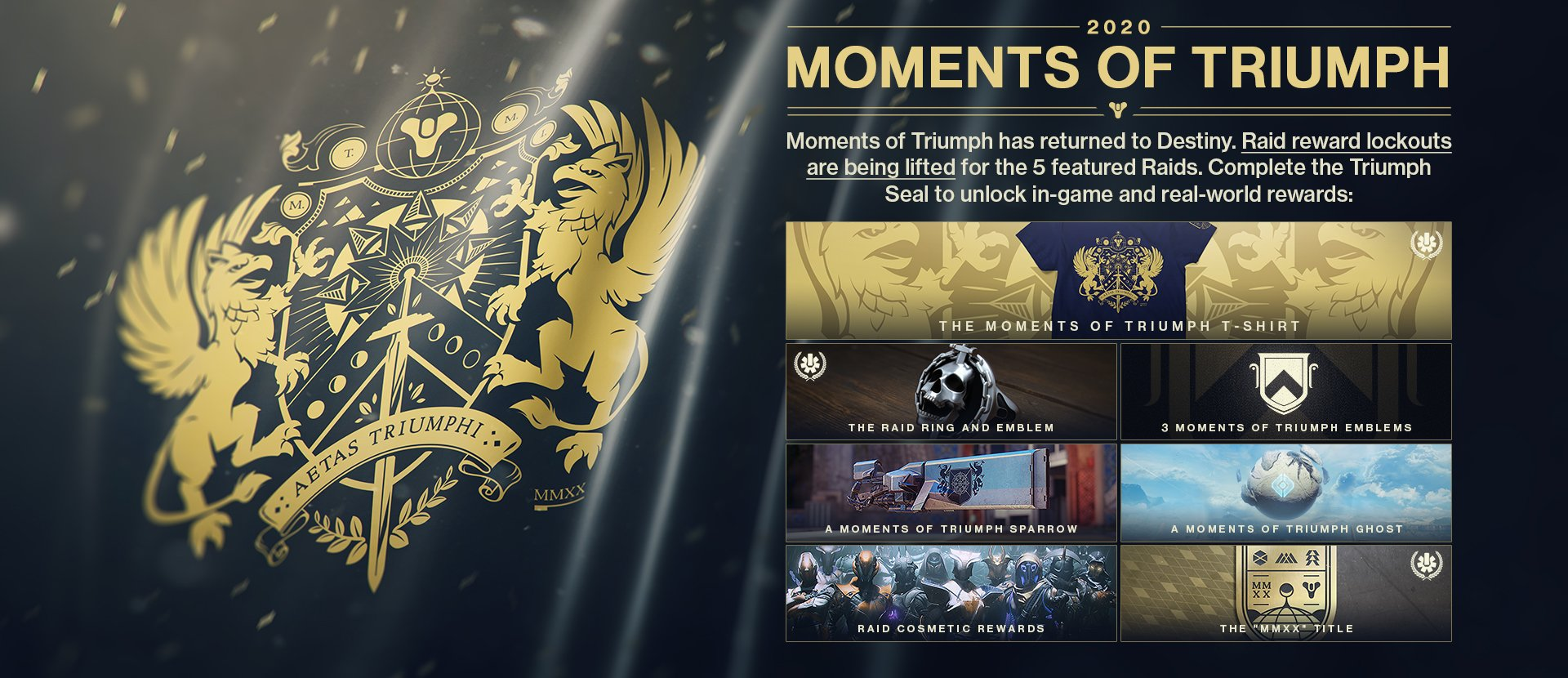 Destiny 2 moments of triumph list rewards