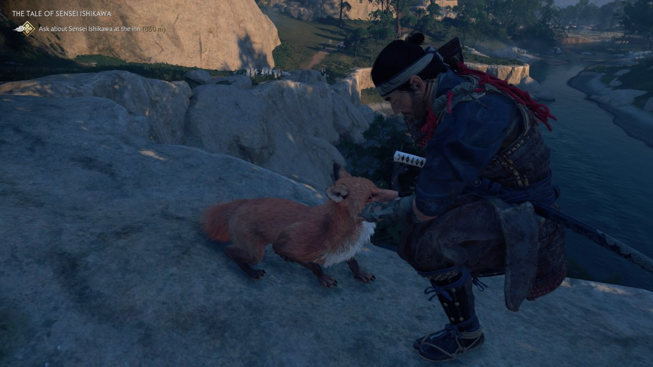 How to pet a fox in Ghost of Tsushima