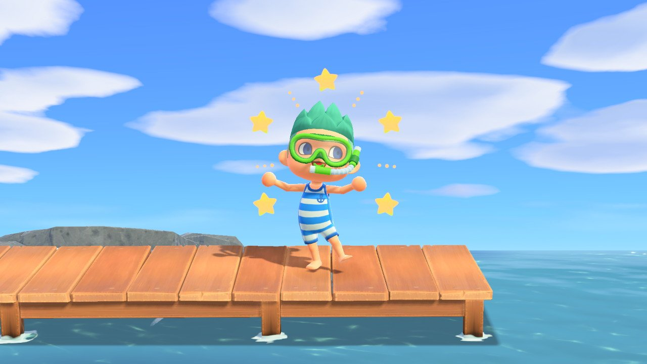 How to swim in animal crossing new horizons