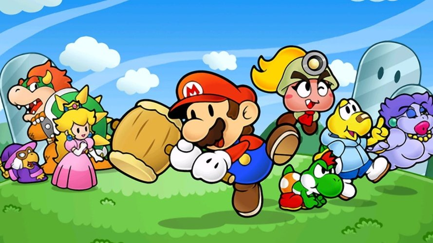 Mario spin off series Paper Mario