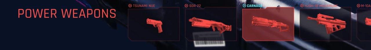 Cyberpunk 2077 Power Weapons