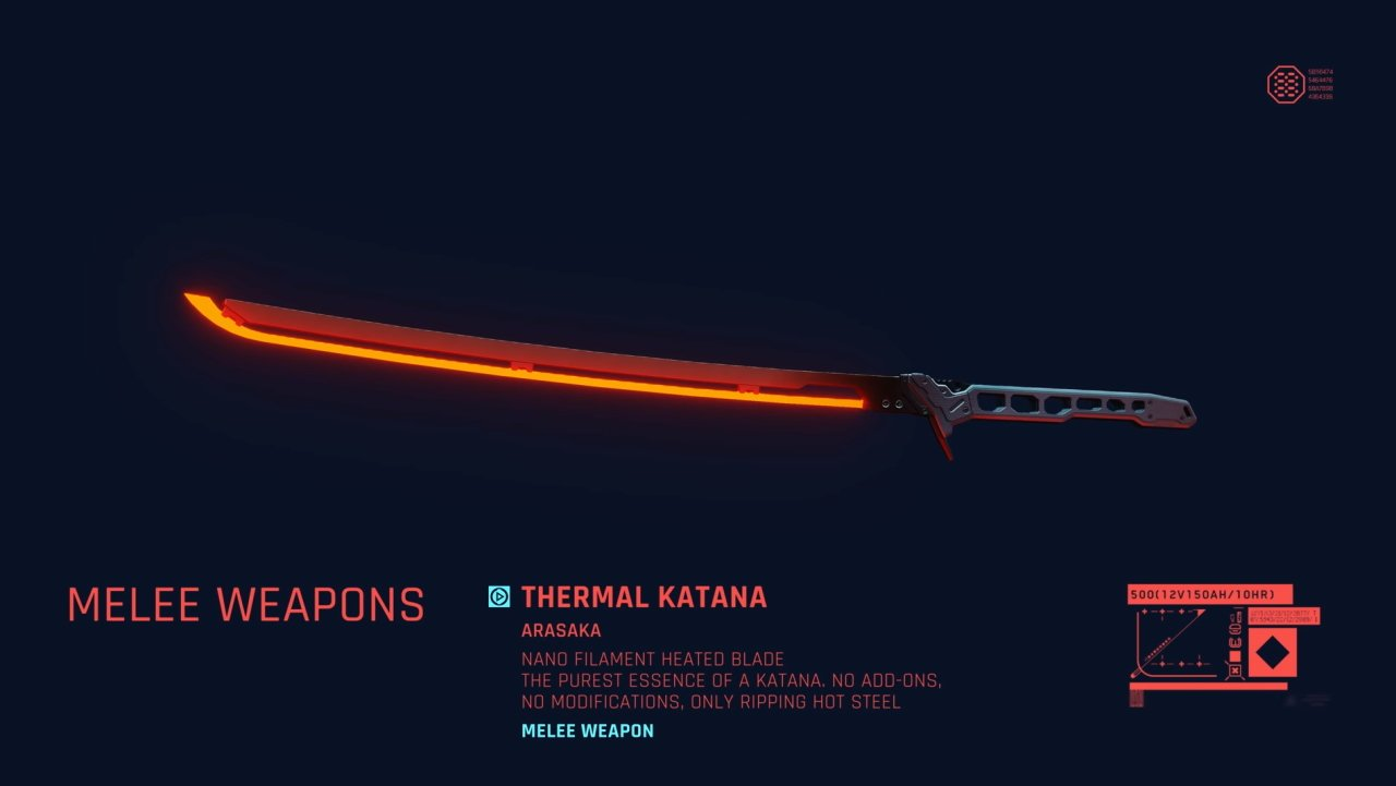 Cyberpunk 2077 katana