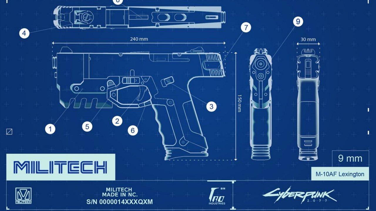 Cyberpunk 2077 all pistols m-10af