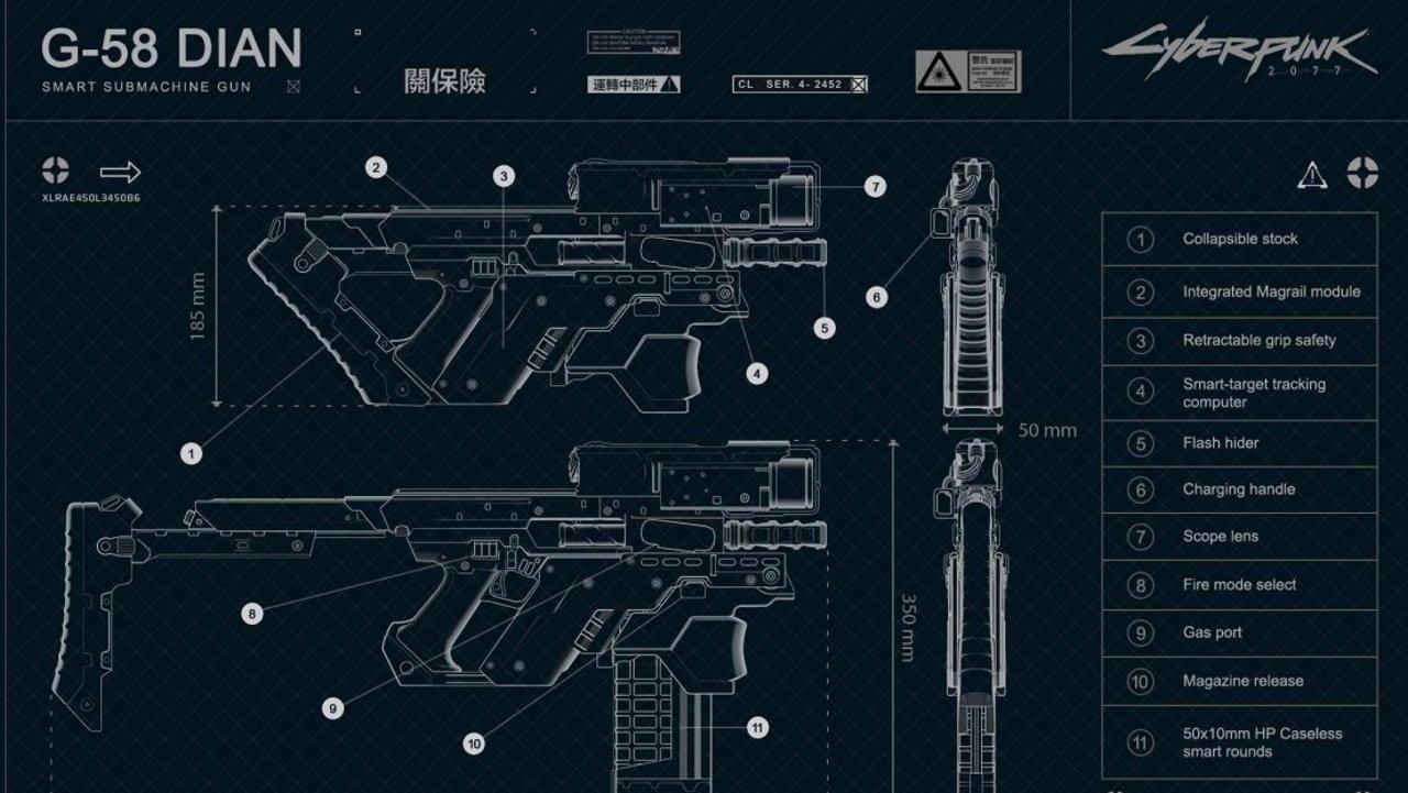Cyberpunk 2077 dian smg