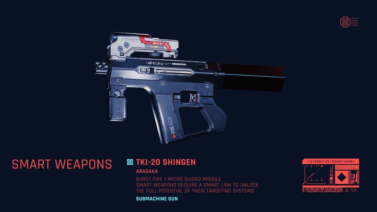 Cyberpunk 2077 smart weapons Shingen