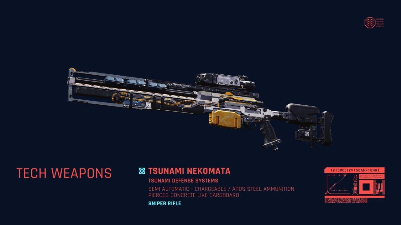 Cyberpunk 2077 sniper rifles