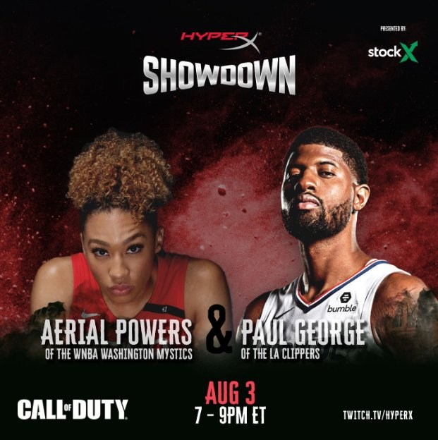 HyperX showdown basketball stars aerial powers paul george