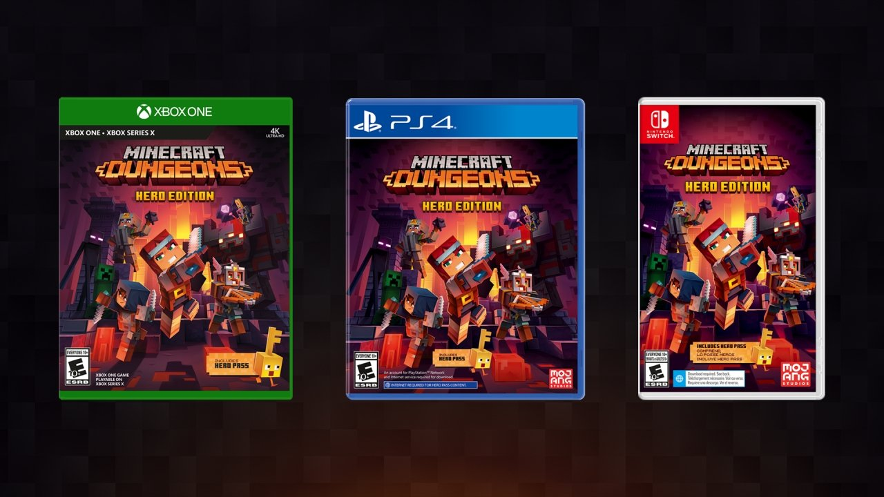 Minecraft dungeons DLC physical release