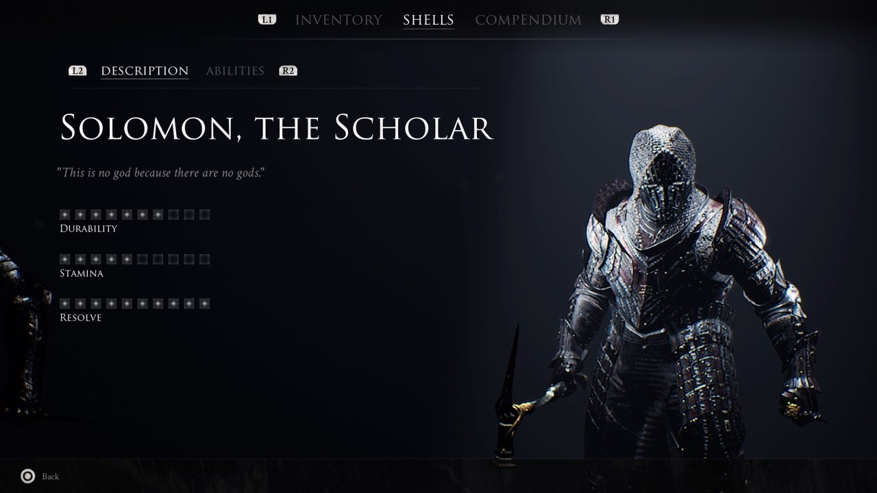 Solomon the scholar all Mortal Shells