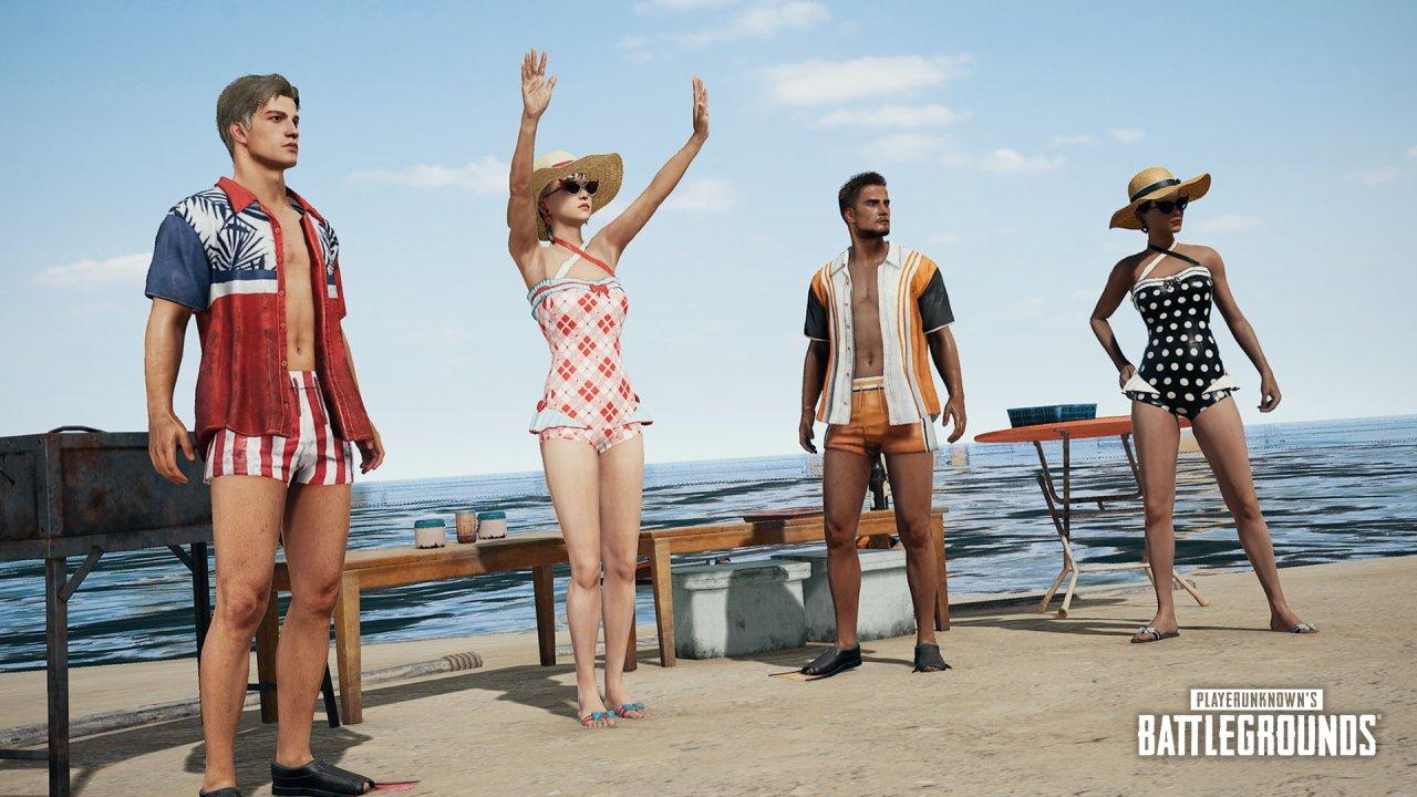 Summer skins PUBG catwalk