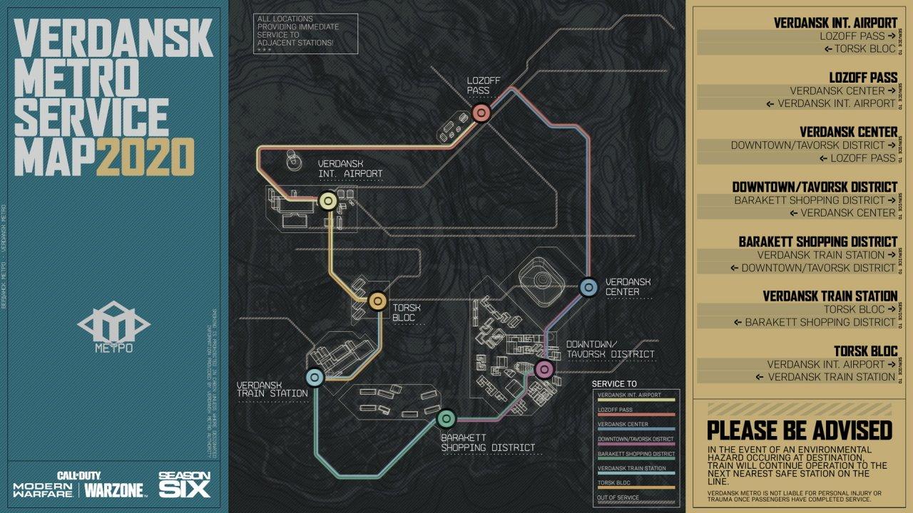 Call of Duty warzone subway map season 6