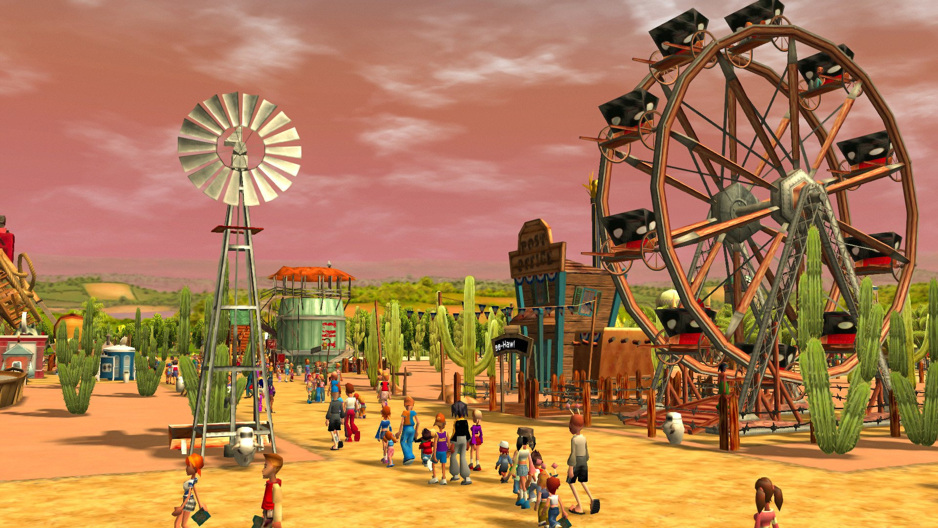 Plenty of set dressing let you make the zones and parks you most wanted. Screenshot: Frontier