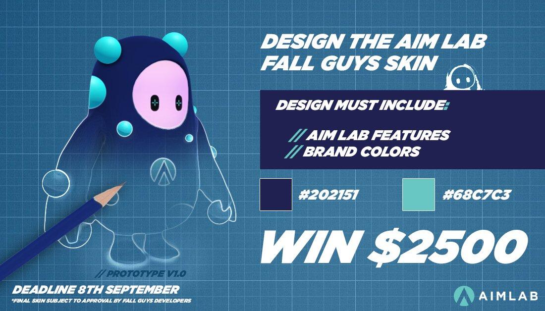 Aim Lab hosting Fall Guys outfit design contest