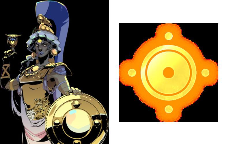 Athena symbol in Hades - All god symbols