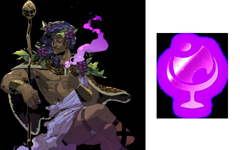 Dionysus symbol in Hades - All god symbols