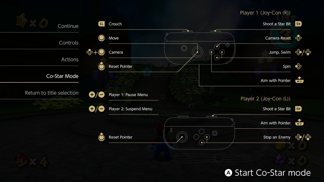 How to play co-op on Super Mario Galaxy for Switch 3D all-stars