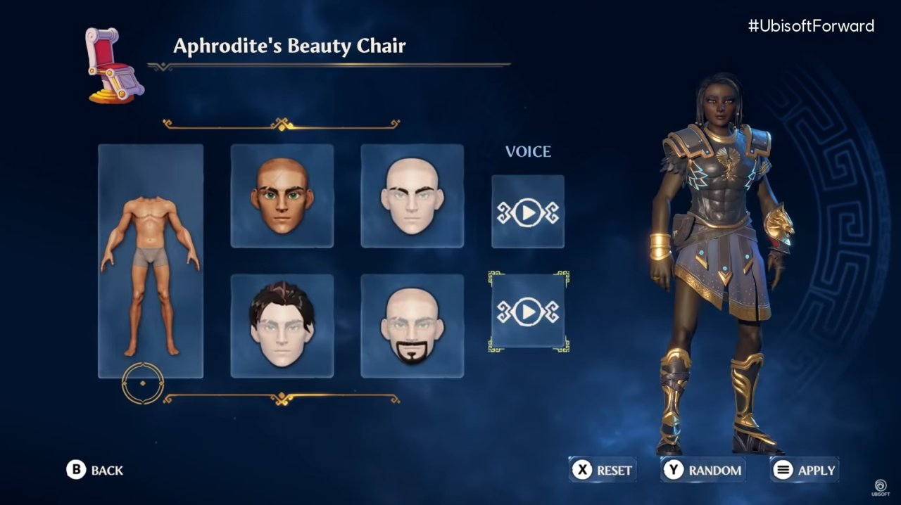 Immortals Fenyx Rising character creator and customization
