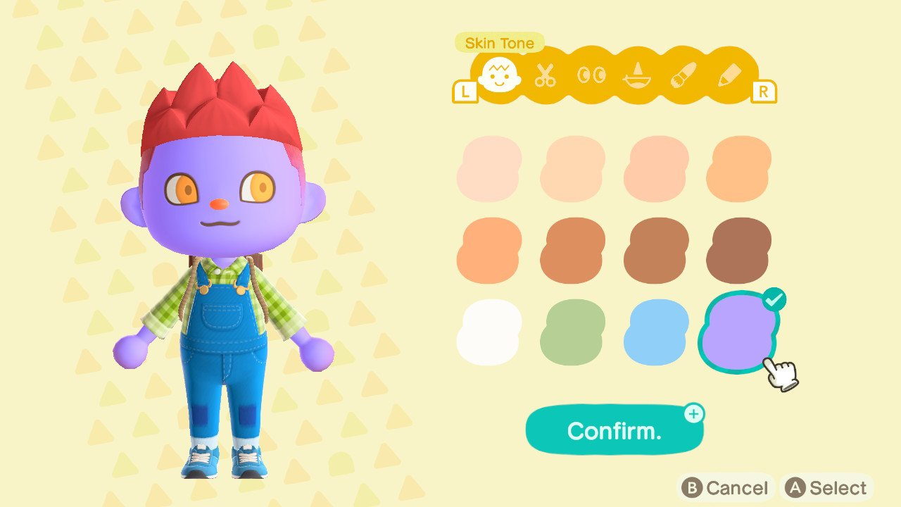 Animal Crossing New Horizons halloween eye contacts face paint