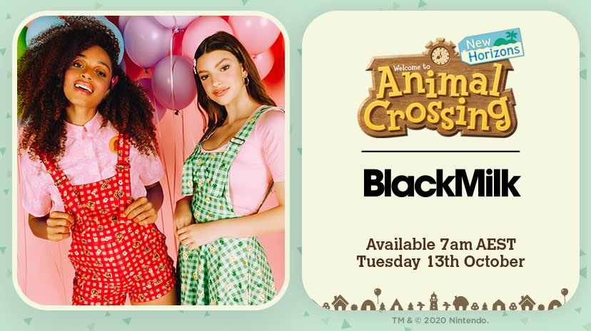 Blackmilk animal crossing nintendo collab