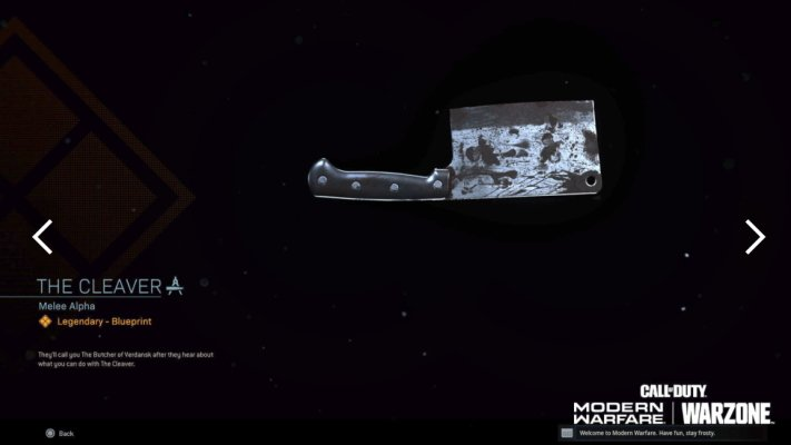 Call of Duty Warzone cleaver melee gulag