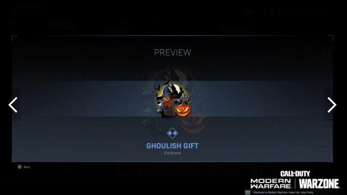 Call of Duty Halloween rewards port