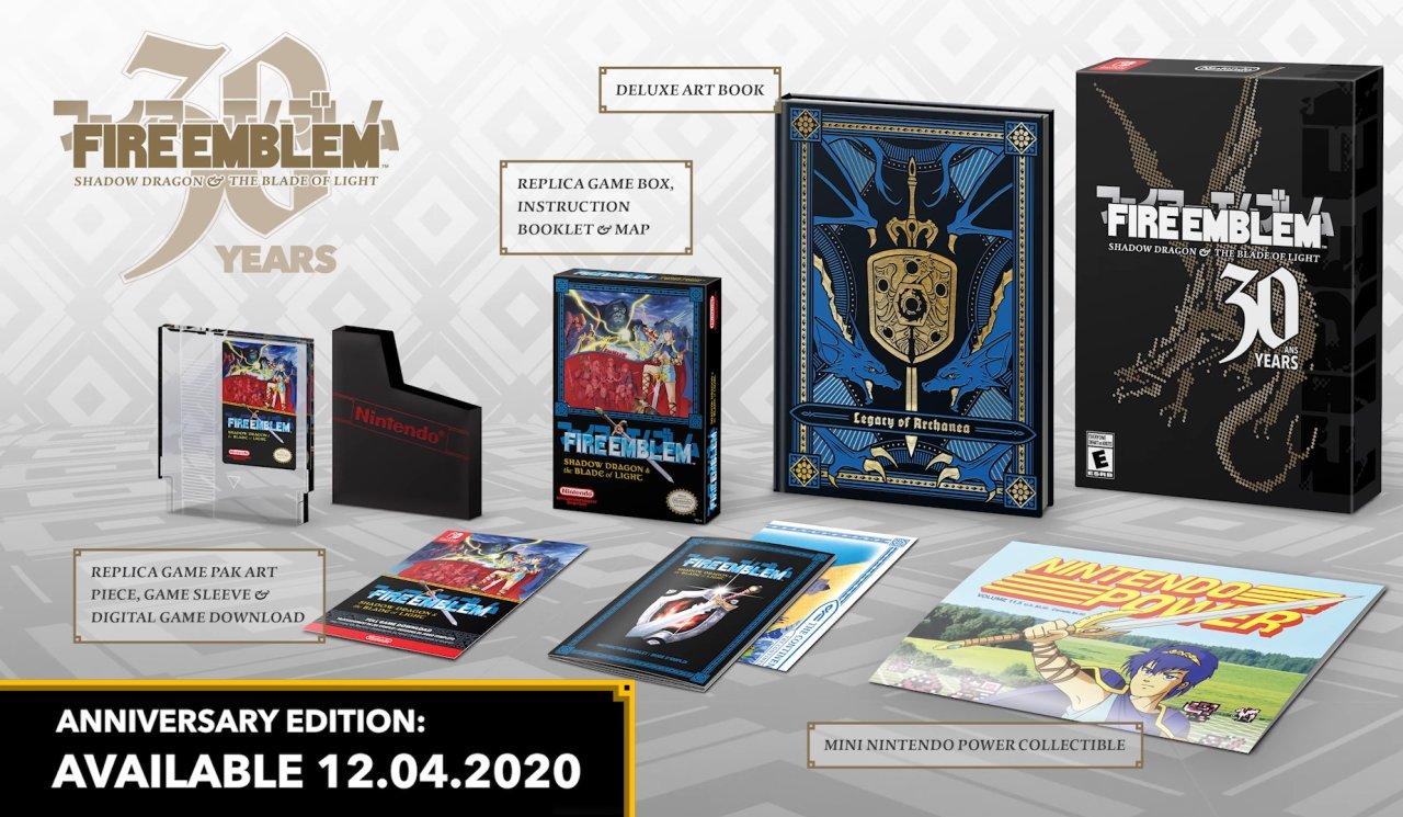 Fire Emblem 30th anniversary nes box shadow dragon