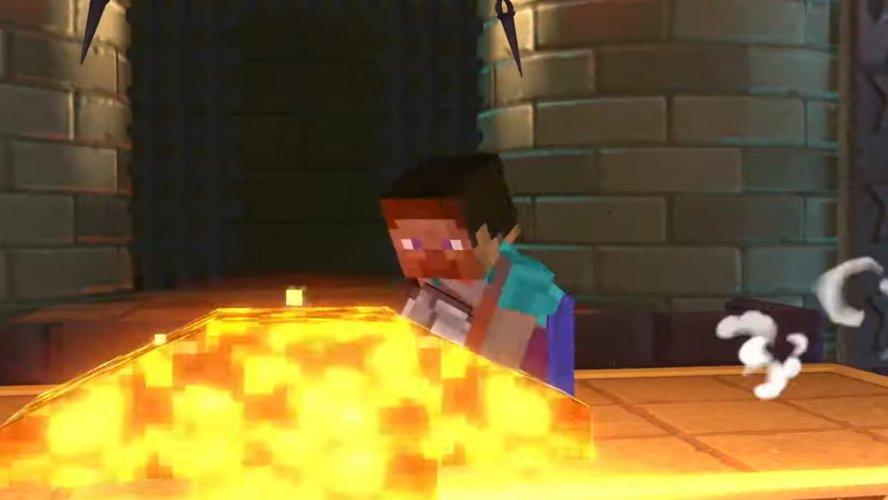 Minecraft Steve moveset smash ultimate Down smash