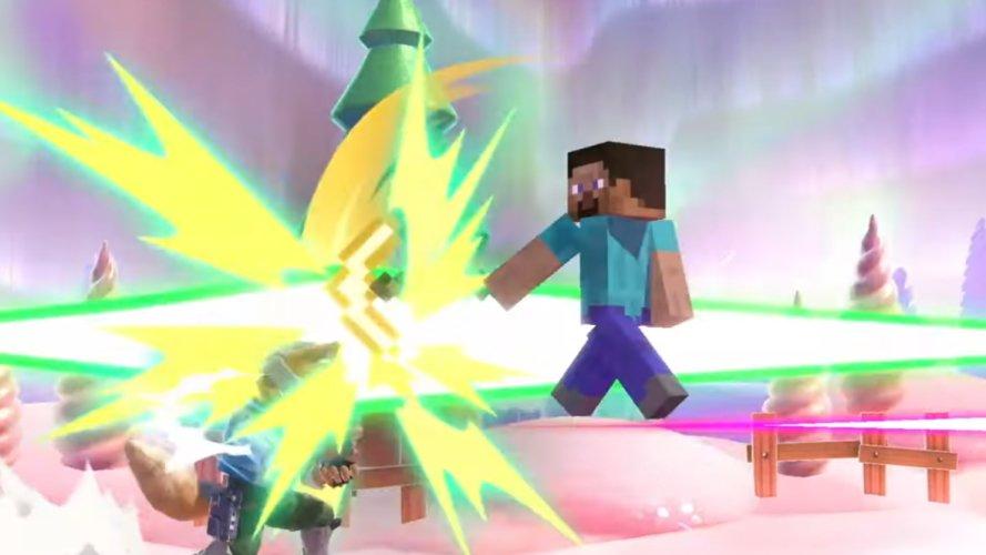 Minecraft steve moveset smash ultimate forward air