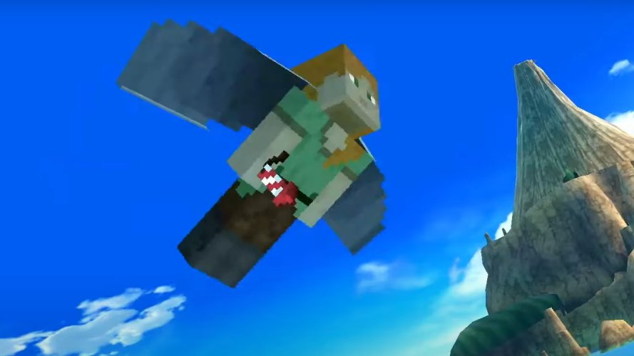 Minecraft moveset smash ultimate glide