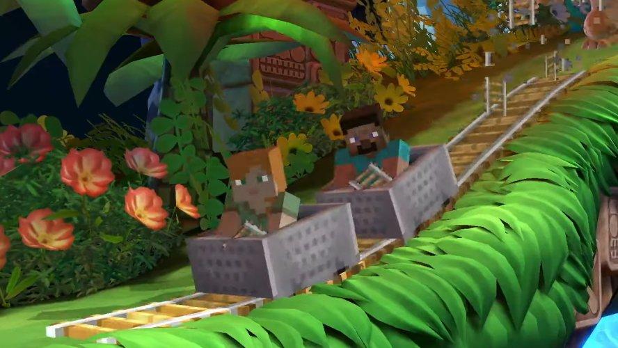 Smash Ultimate Minecraft moveset minecart