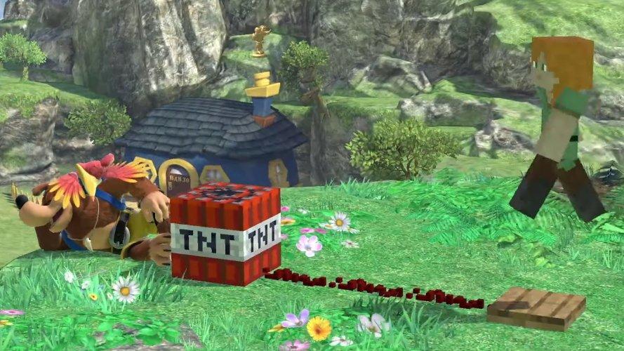 Minecraft moveset smash bros ultimate TNT