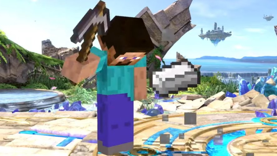 Minecraft in Smash Ultimate special moves