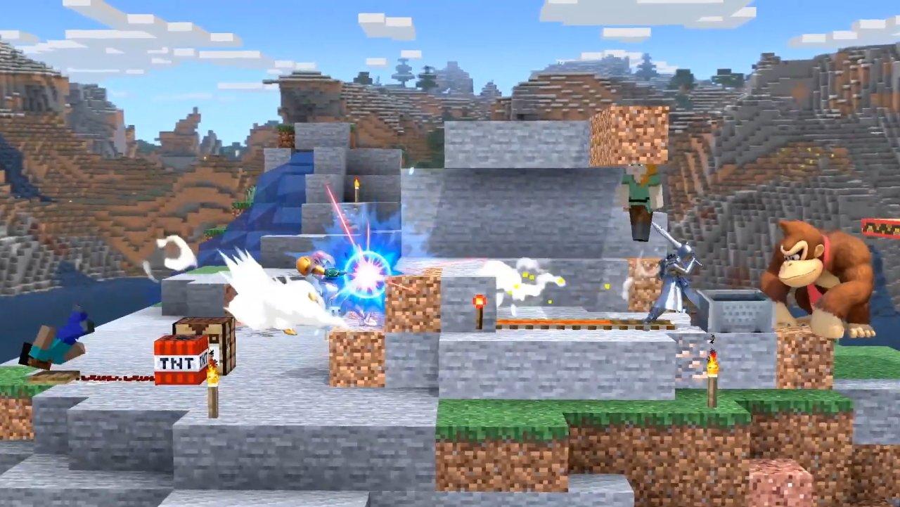 Smash ultimate minecraft steve stage