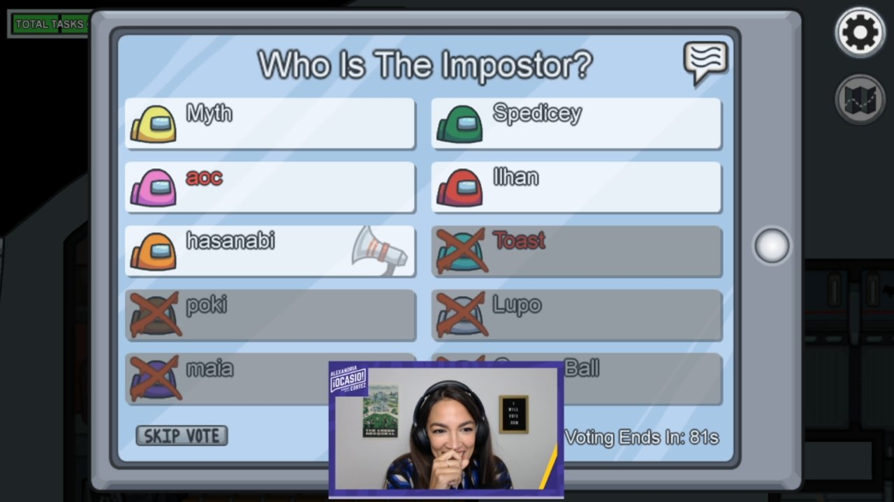 The best highlight from AOC's Among Us Twitch Stream