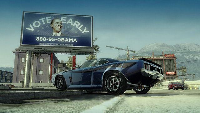 Burnout Paradise's dynamic billboards were so last century. © EA