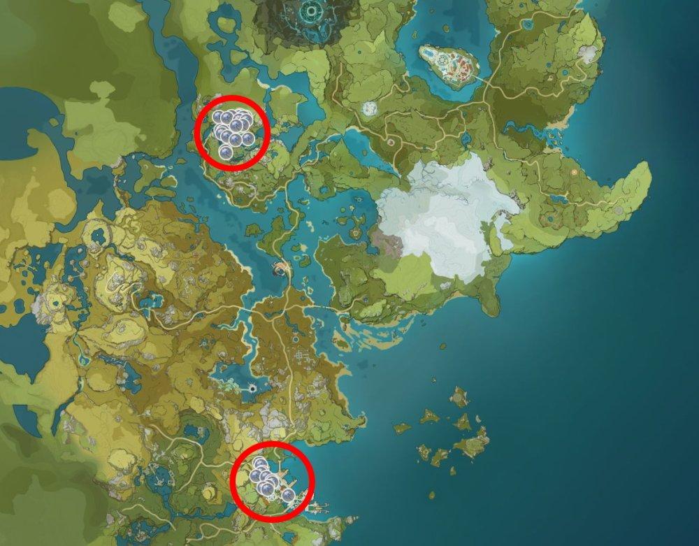 Glaze Lily locations in Genshin Impact