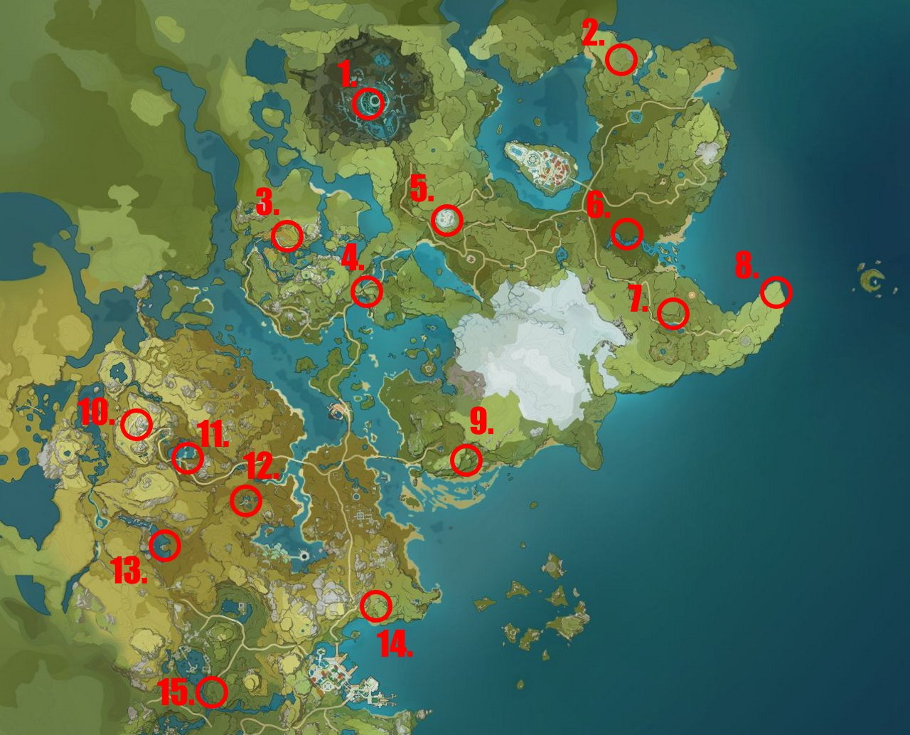 Genshin Impact Hilichurl Wei locations map big hilichurl