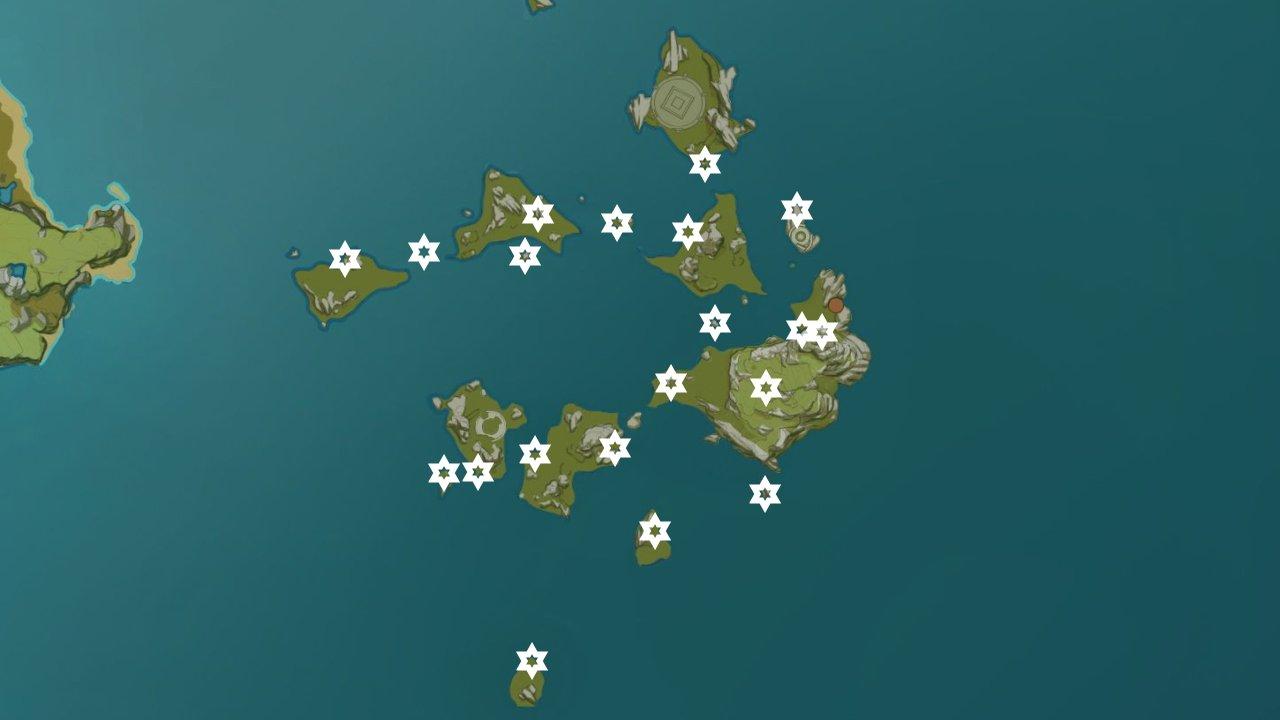 Genshin impact meteorite shard locations guyun stone forest
