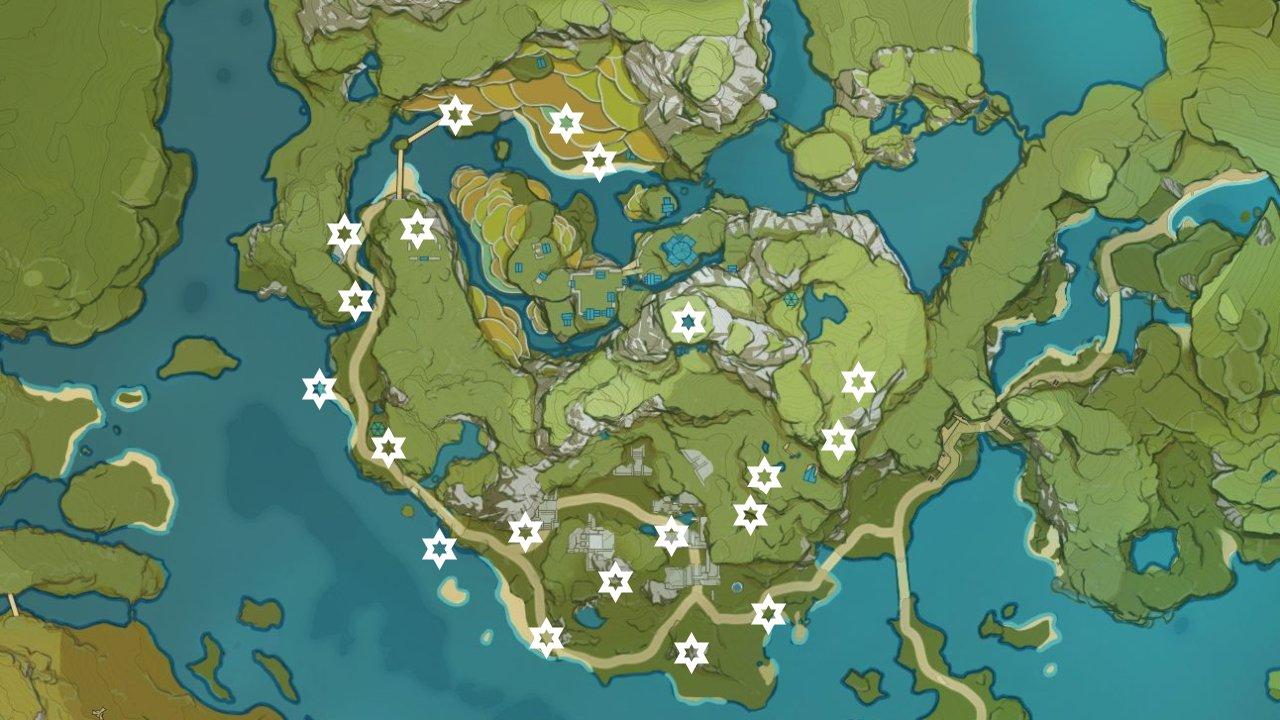 qingce village wuwang hill meteorite locations genshin impact