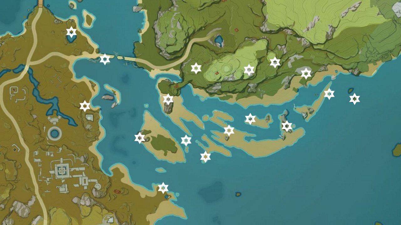 Genshin impact meteorite locations day 2 yaoguang shoal