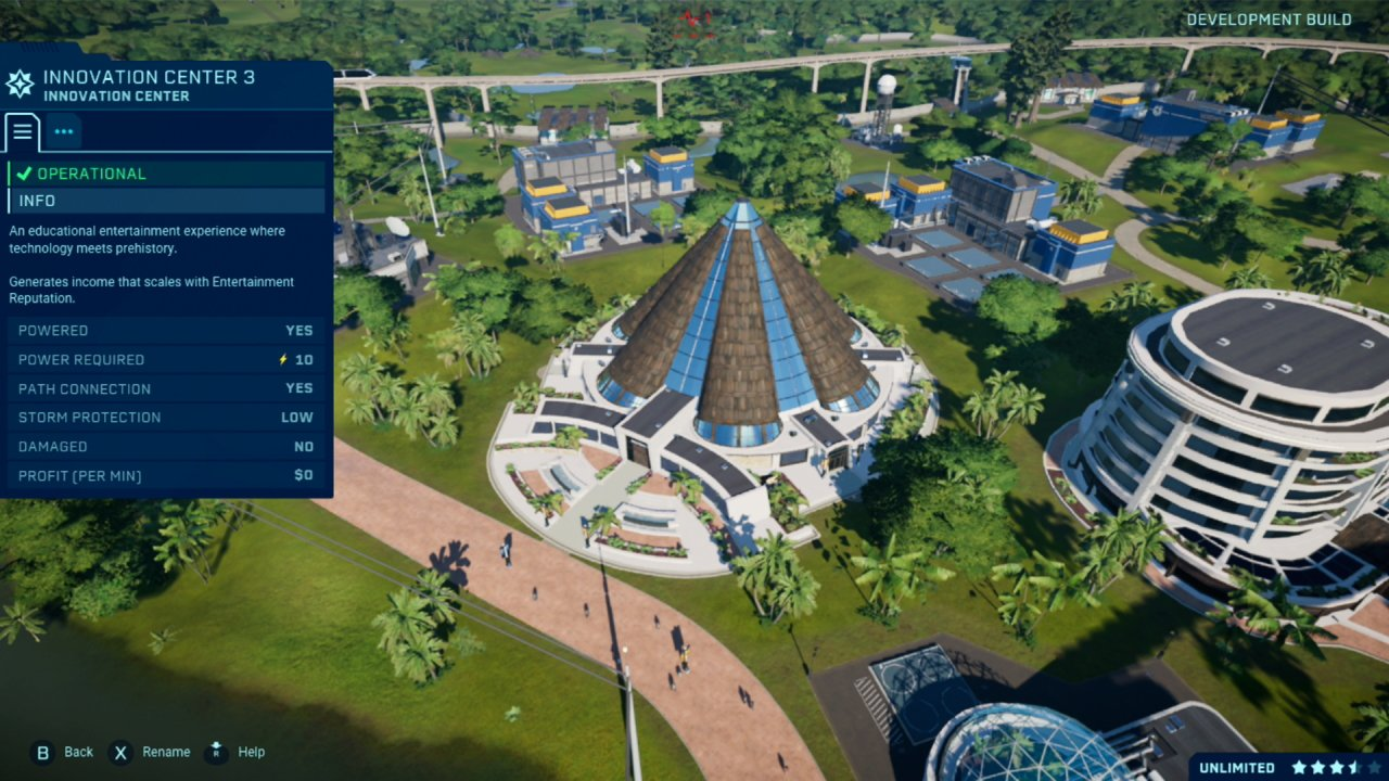 Jurassic World Evolution park game on Switch